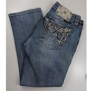 Women's Miss Me cropped jeans size 28